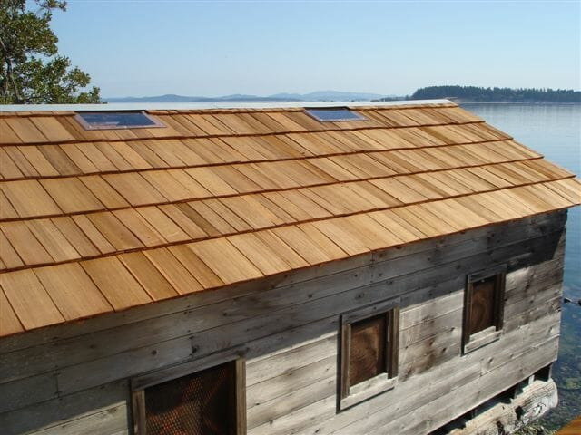 32 inch Cedar Shakes After - Custom Cut Shake & Shingles